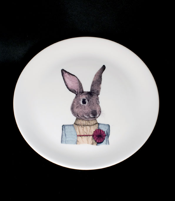 Rabbit Plate by HIN Studio