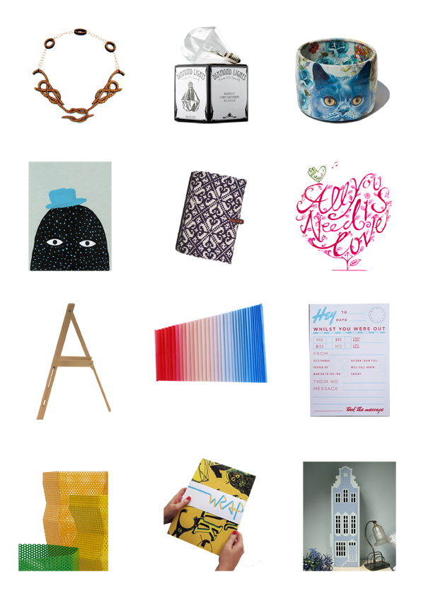 A selection of products showing at Curate40 Minimart